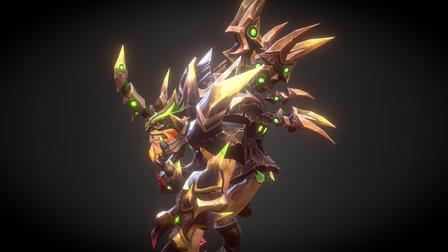 barbarous assault set for bristleback 3D Model