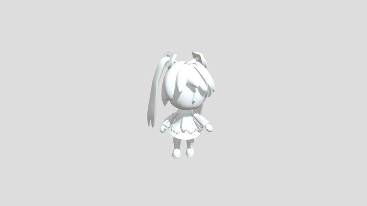 Blender2.82a Hatsune Miku Free version 3D Model