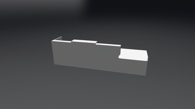 TRA41L Reception Desk 3D Model