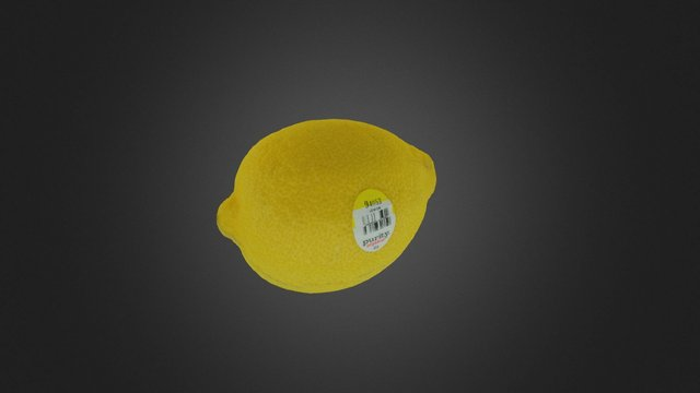Lemon Raw Scan 3D Model