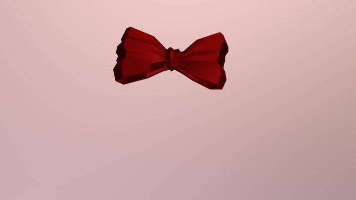 Snow White Hair Bow 3D Model