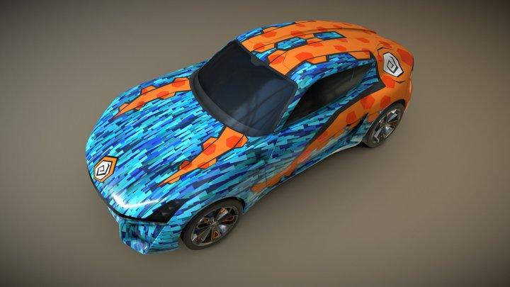 XTAON Art Car - Octo Series 3D Model
