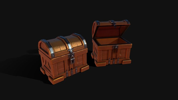Chest Stylized 3D Model