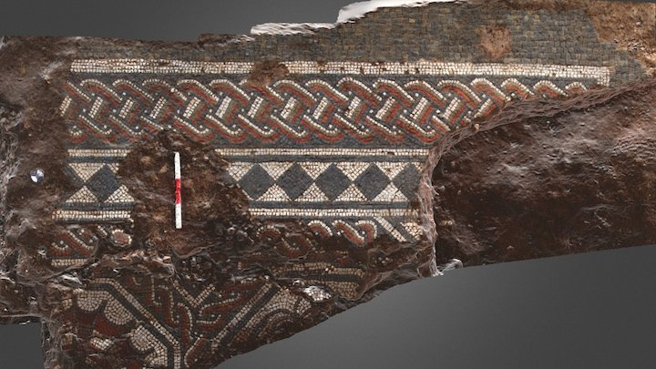 Fine Roman mosaic 3D Model