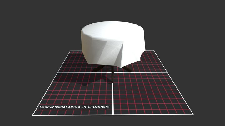 Low poly Coffee table 3D Model