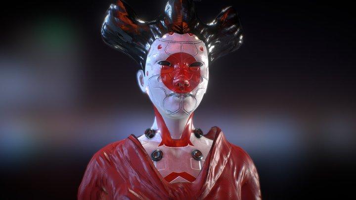 CIBER GEISHA By Oscar creativo 3D Model