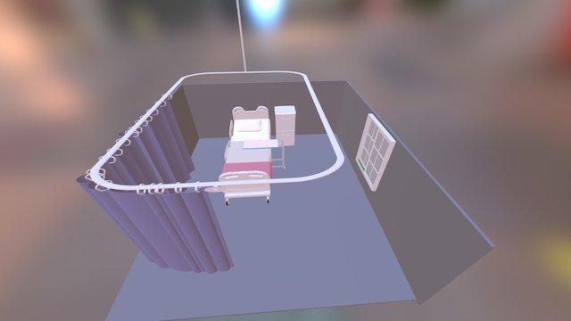 Hospital Room Example 3D Model