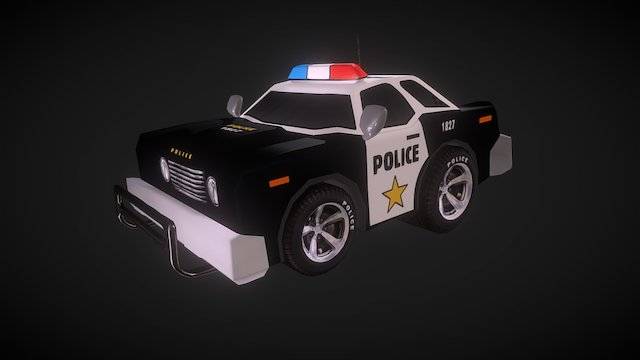 Toy Police Car 3D Model