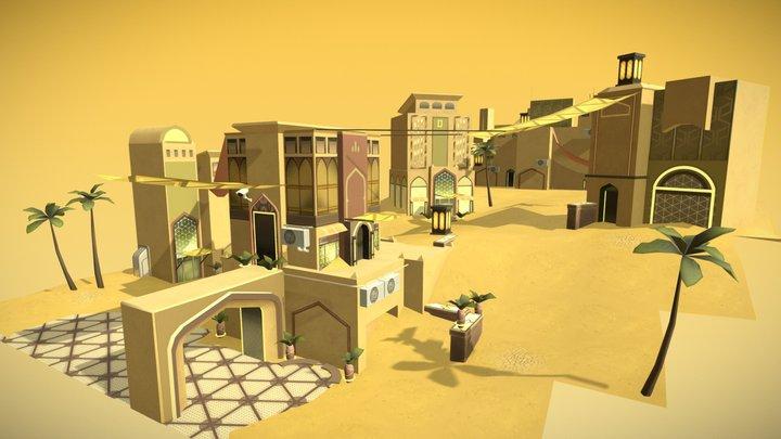 Sand City 3D Model