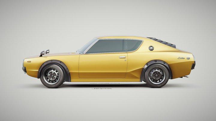 (FREE) 1972 Datsun 240k GT 3D Model
