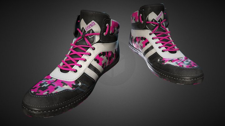 """Provocative Pink"" Shoes 3D Model"