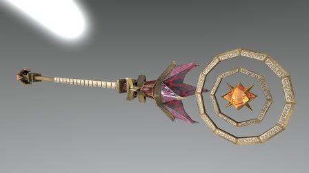 Tallonite Magus Staff 3D Model