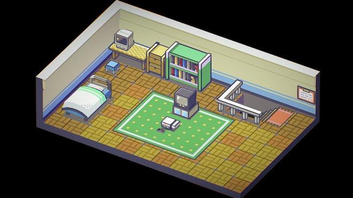 Pokemon FireRed - Player's Room 3D Model