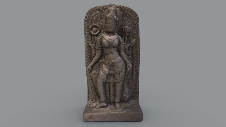 "Hindu Goddess ""Parvati"" Statue 3D Model"