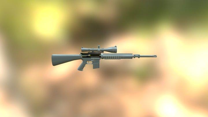 Colt AR 15 Sniper Semi High-Res WIP 3D Model
