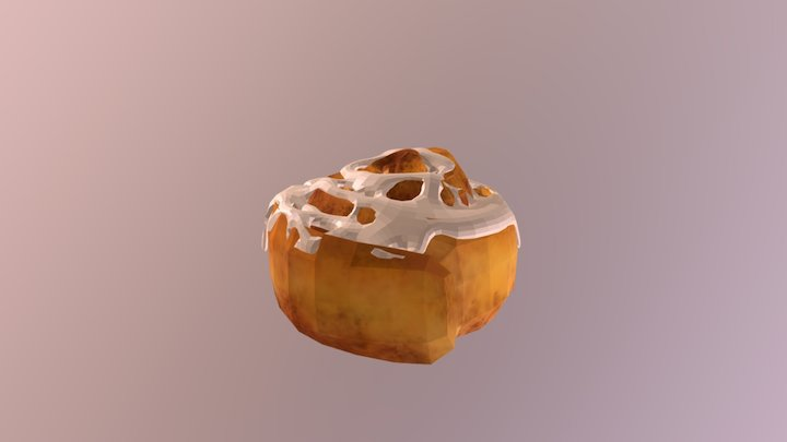Cinnamon Roll 3D Model