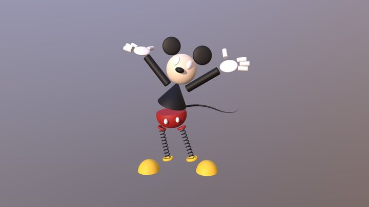 Mickey Mouse Abstract 3D Model