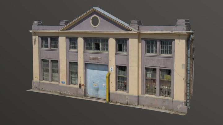 Zbrojovka - Building #1 facade 3D Model
