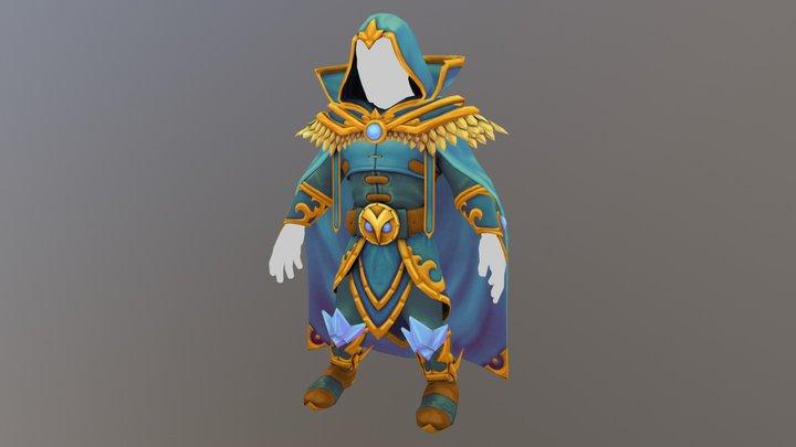 Human Mage's Armor 3D Model