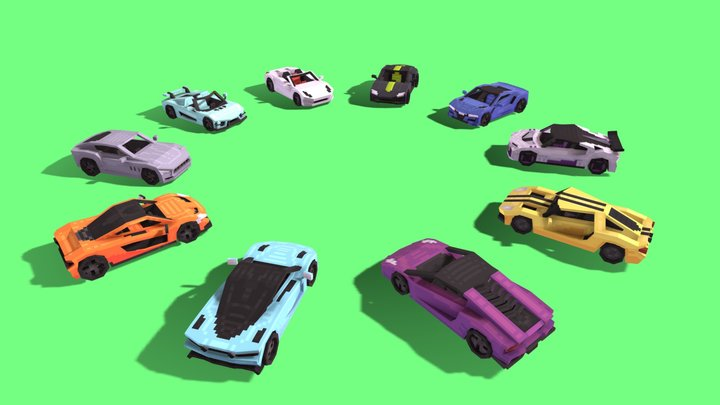 Super Cars - Blockbench 3D Model