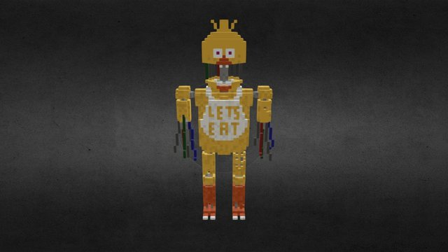 Qubicle Withered Chica 3D Model