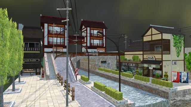 City Scene Tokyo 3D Model