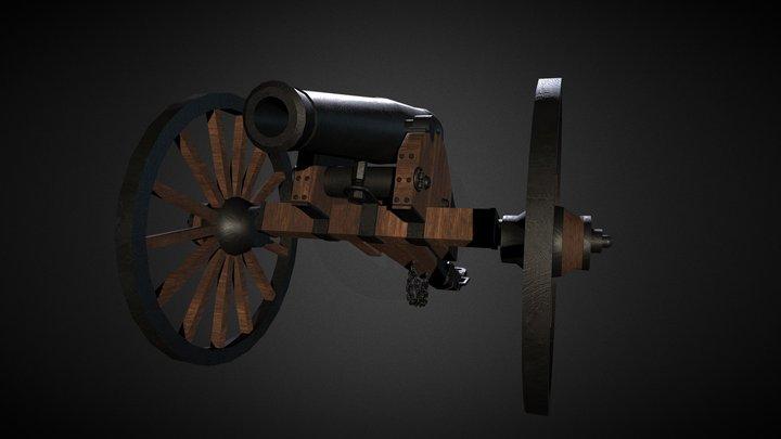 Napoleon Civil War Cannon 3D Model