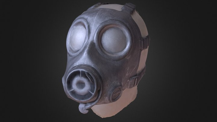 British Army S10 Gas Mask - 3d Scan - Low 3D Model