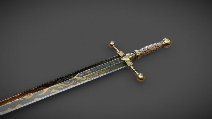 Chevalier Sword 3D Model