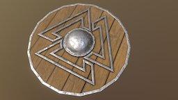 Viking Valknut Shield 3D Model