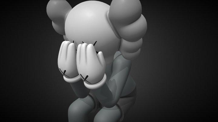 Kaws Companion ORIGINAL Fake (Grey) 3D Model