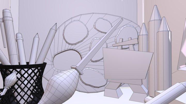 360 Art Room 3D Model