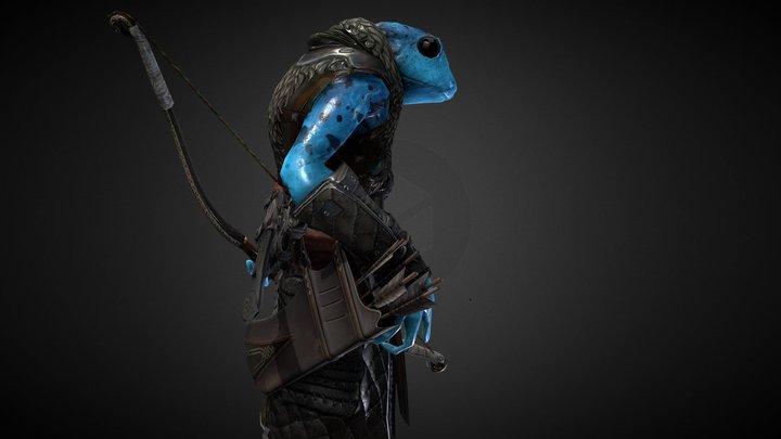 Anuro, archer frog 3D Model