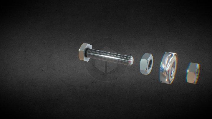 Roller assembly 3D Model