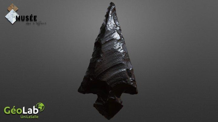 Obsidian Arrowhead 3D Model