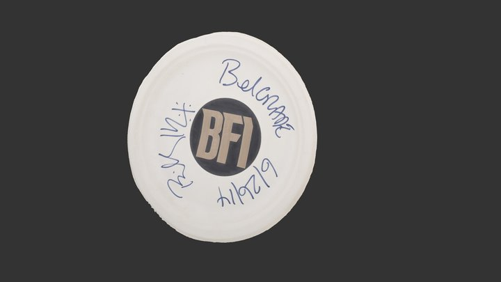 Plate with Billy Idols autograph 3D Model
