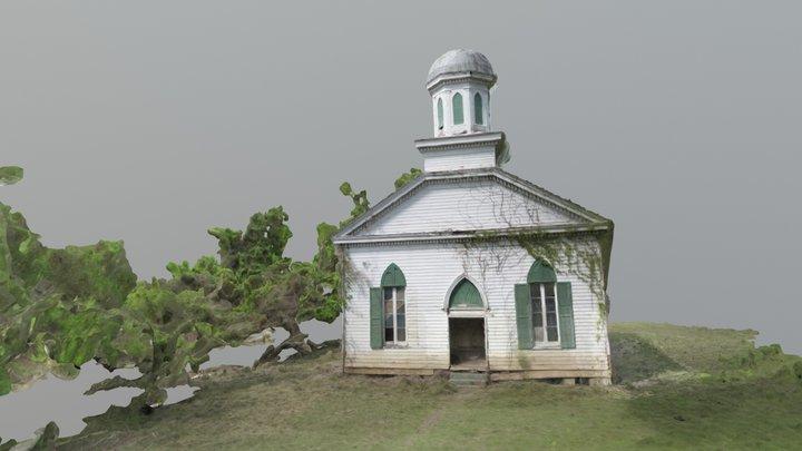 Mt. Zion No. 1 Baptist Church - Rodney, MS 3D Model
