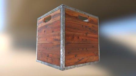 1920's Crate Game Model 3D Model
