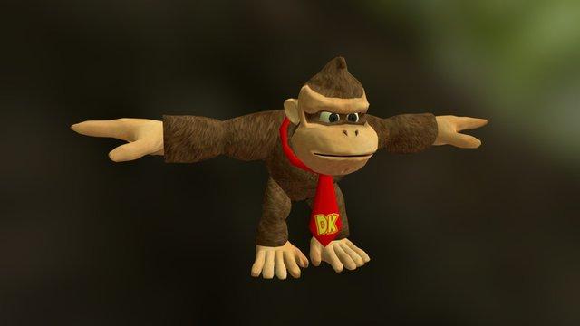 Donkey Kong 3D Model