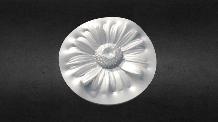 3D Scanned White Daisy Flower (3D Printable) 3D Model