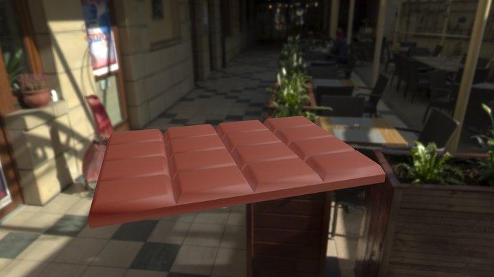 barretta di cioccolato 3D Model