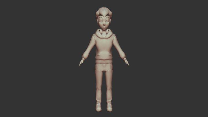 Greg - Original Cartoon 3D Model (WIP) 3D Model