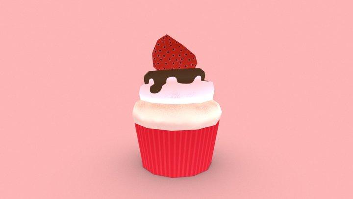 Strawberry Cupcake 3D Model
