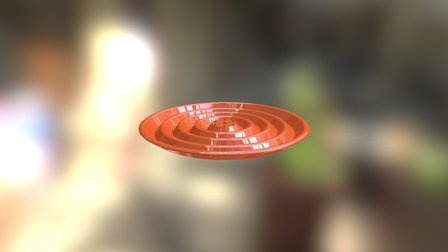 Repulsine Bottom Wave Disk 3D Model