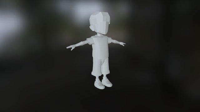 Knox Vijay Low Poly Kid V04 3D Model