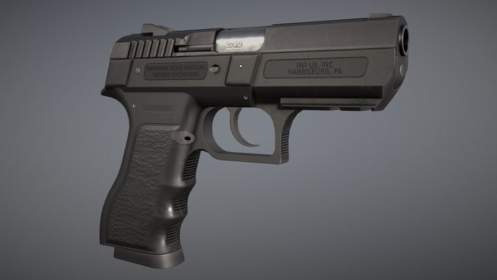 Jericho 941 - Pistol 3D Model
