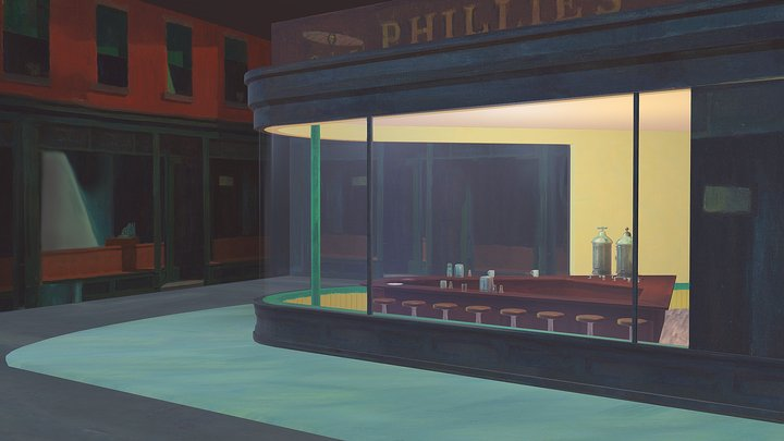 NightHawks by Edward Hopper 1942 3D Model