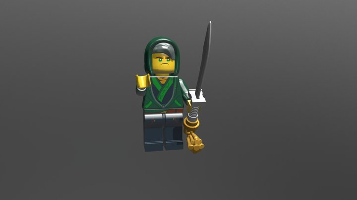 Lego The Ninjago Movie 30609 Lloyd 3D Model