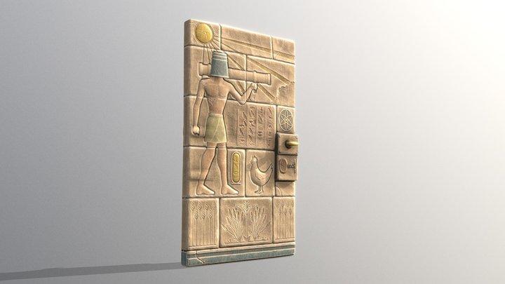 Hieroglyphic Door 3D Model