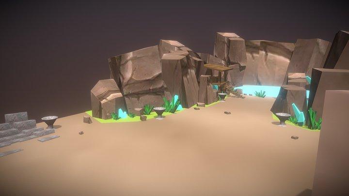 Maigical Pond Game-level03 Demo 3D Model